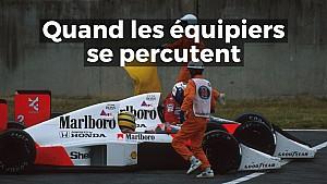 Quand les équipiers se percutent en F1...
