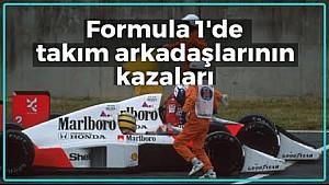 F1'de kaza yapan takım arkadaşları