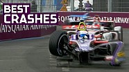 Best crashes, spins, slides and saves! - Paris E-Prix