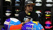 How Alonso's Le Mans lid takes shape