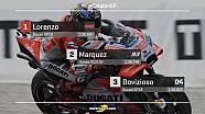 De startgrid voor de Grand Prix van Catalonië